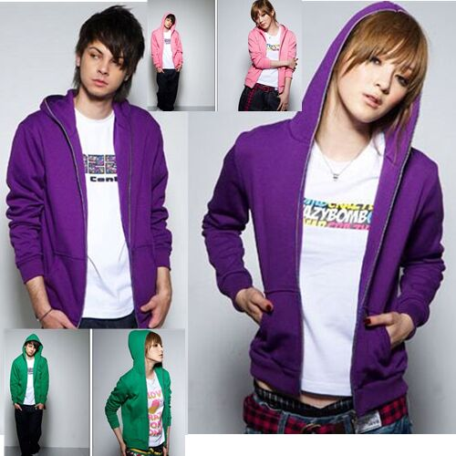 Men & Women's Zip hooded casual sports couple coat