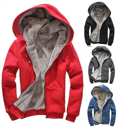 UNM~Men's fleece thickened sweater warm padded Coat