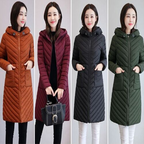 UNM~Women'S Slim in the long section of warm was thin Coat