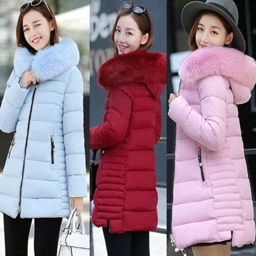 UNM~Women's long section of large padded jacket thick Coat