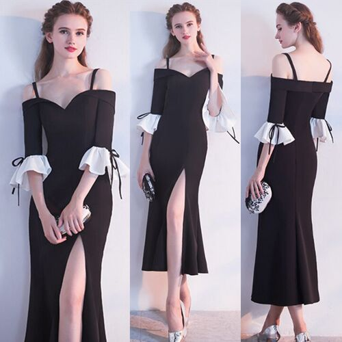 UNM~Women's party Slim strapless shoulder strap dress party Dress