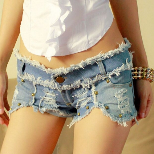 15633#Denim shorts