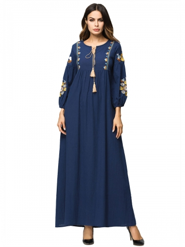 287120#Muslim Denim Dress