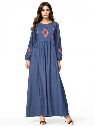 287241#Muslim Denim Dress