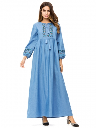 287306#Muslim Denim Dress