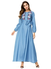 287266#Muslim Denim Dress