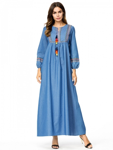 287214#Denim Dress