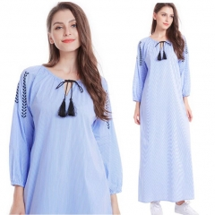 281886#Muslim Denim Dress)