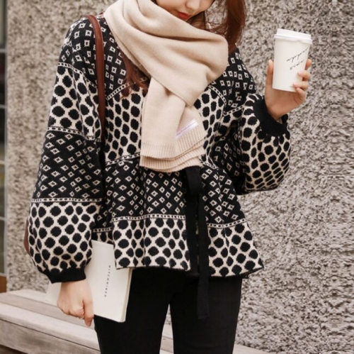 157308#Knitted Coat