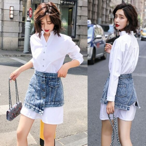 1280521#Dress+Denim Skirt