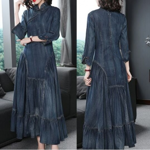 28T5231#Denim Dress