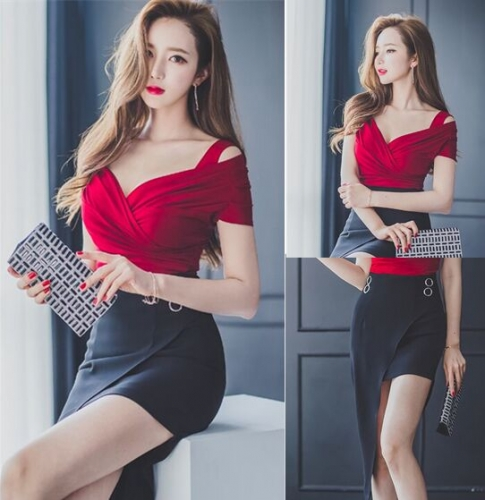 2583019#Blouse Vest +Skirt