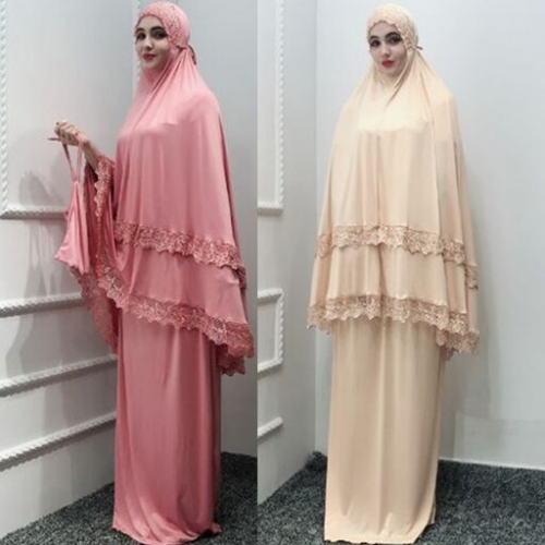 28PA10001#Muslim Headscarf Shawl+Dress