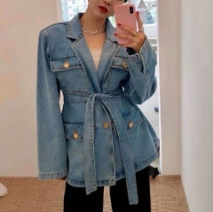 153135#Denim blazer Jacket