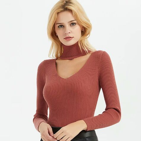 078545#Knitted Sweater
