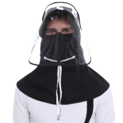 71B0046#Men'Anti-spray protective hat shawl
