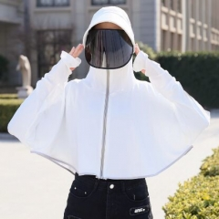 71B0047#Women'Anti-spray protective hat shawl