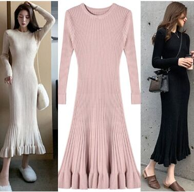 157730#knitted sweater Dress