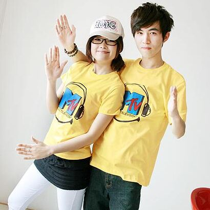 184037#2pcs Lover suit T Shirt