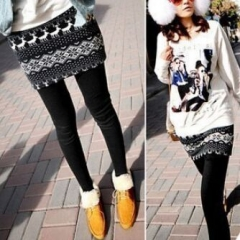 362116#Fake 2 pcs Pants