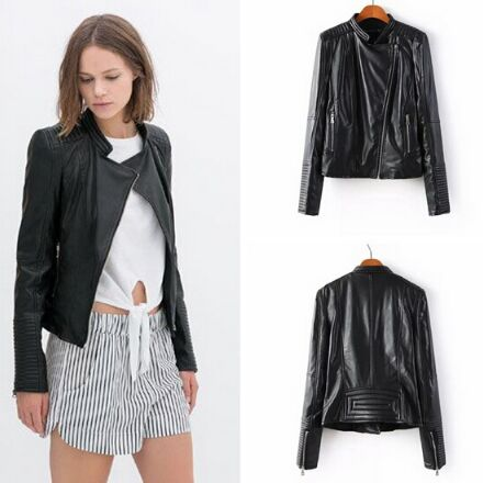 41C1646#PU Jacket Coat