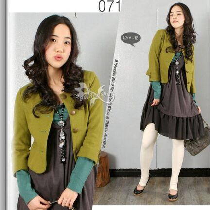211028#Blazer Jacket-Green